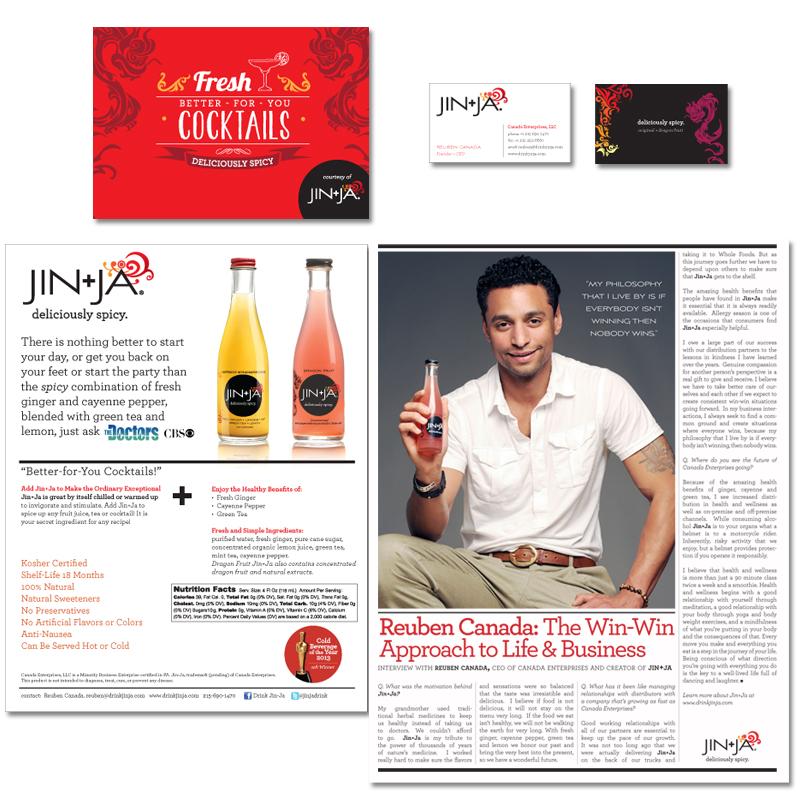 Jin+Ja Print Design
